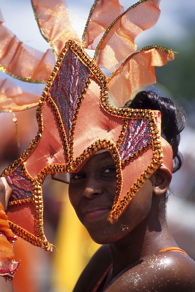 Costumed Girl, Crop-Over Festival, Bridgetown, Barbados, Carribean