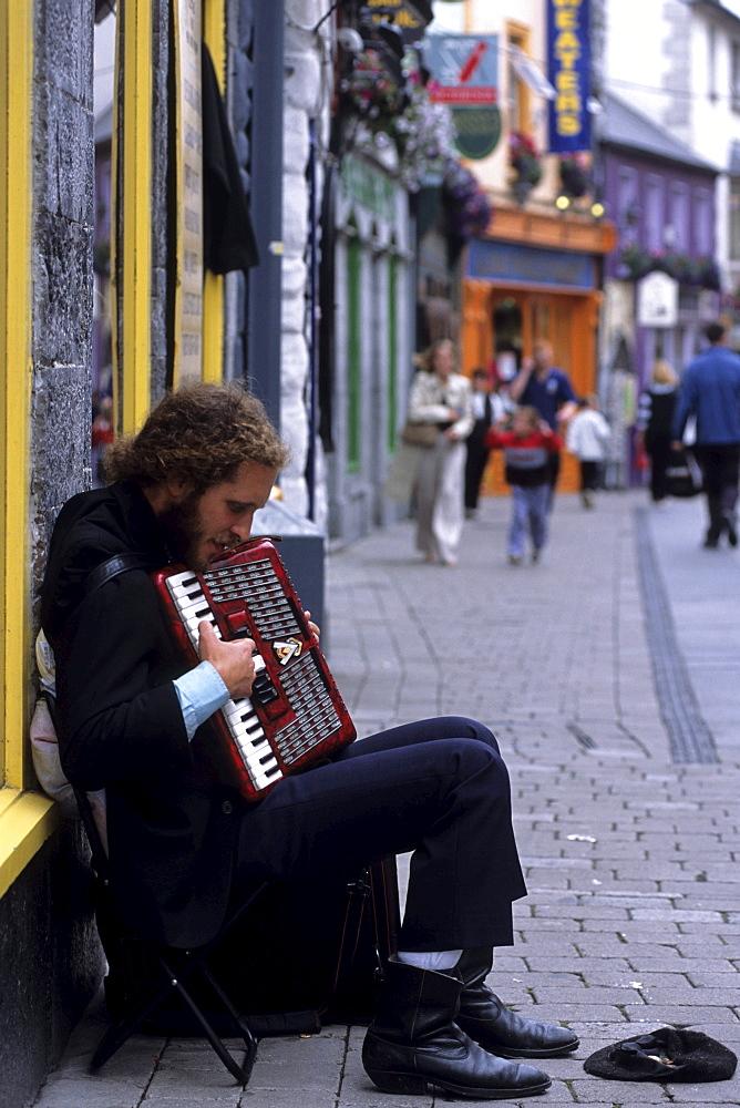 Busker on Quay Street, Galway, Ireland