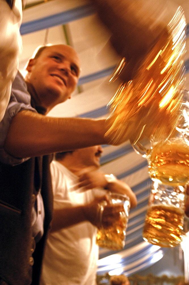 Oktoberfest, Munich, Bavaria, Germany, Beer Festival, Beer Tent - 1113-73841