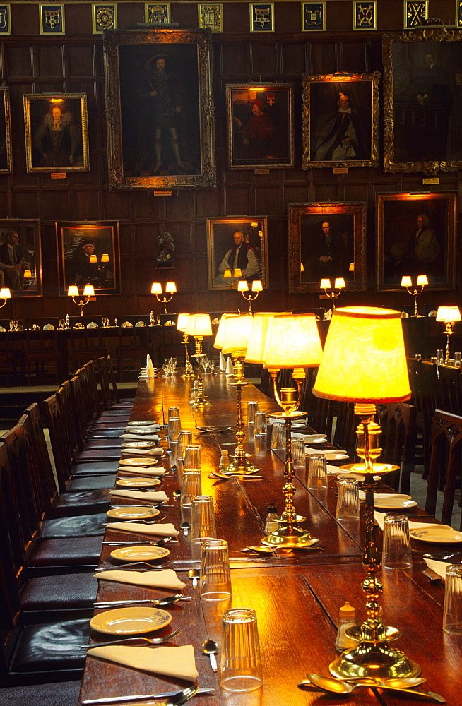 Europe, Great Britain, England, Oxfordshire, Oxford, Christ Church College, dining-hall