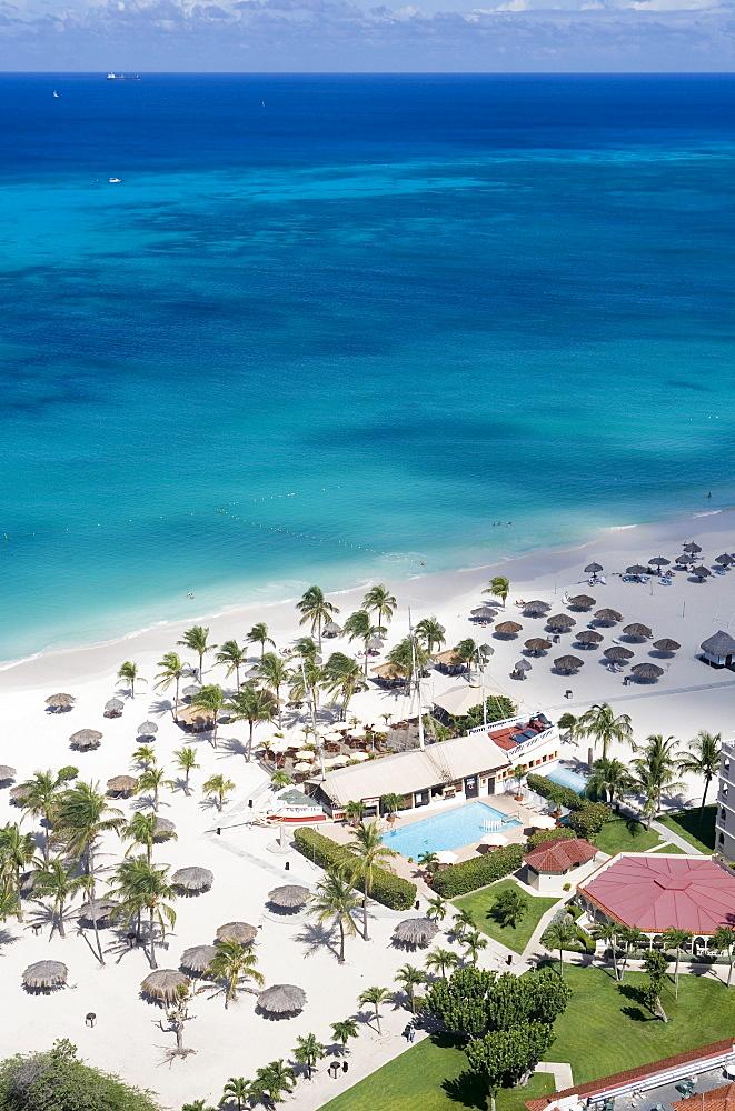 Aerial Photo of Bucuti Beach Resort, Aruba, Dutch Caribbean