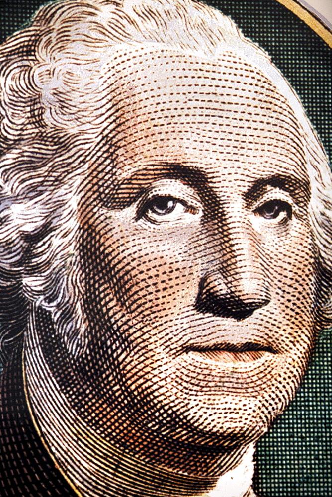 Picture of president George Washington, Mount Vernon, Virginia, USA