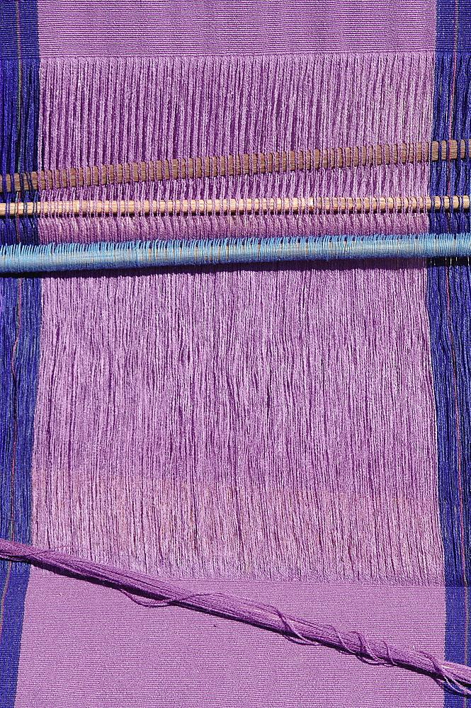 Weaving loom in Chiapas, San Lorenzo Zinacantun, Mexico