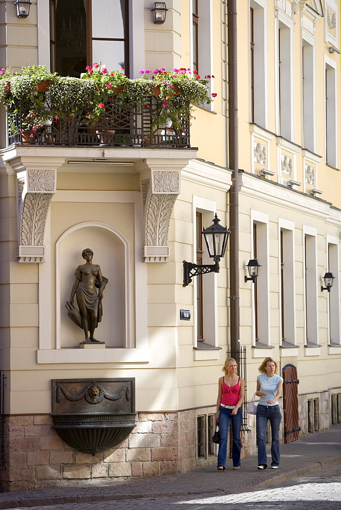 Pils street in the old town of Riga
