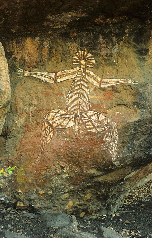 Rock art, Aboriginal Rock Painting at Nourlangie Rock, Kakadu National Park, Northern Territory, Australia