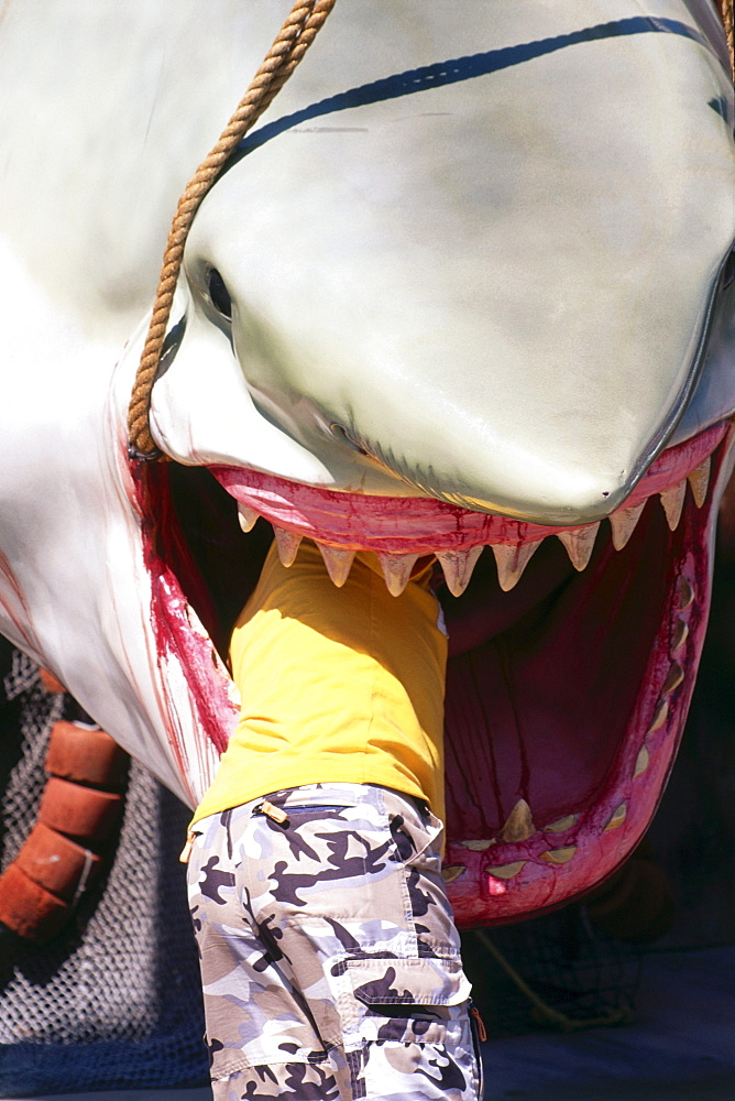 Jaws impression at Universal Studios, Universal City, L.A., Los Angeles, California, USA
