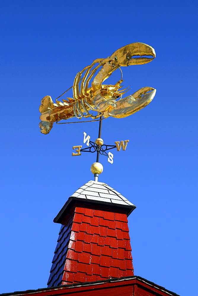 Lobster sign at a seafood restaurant in Boston, Massachusetts, United States (USA)
