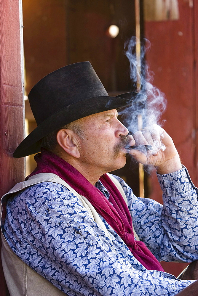 cowboy smoking, wildwest, Oregon, USA