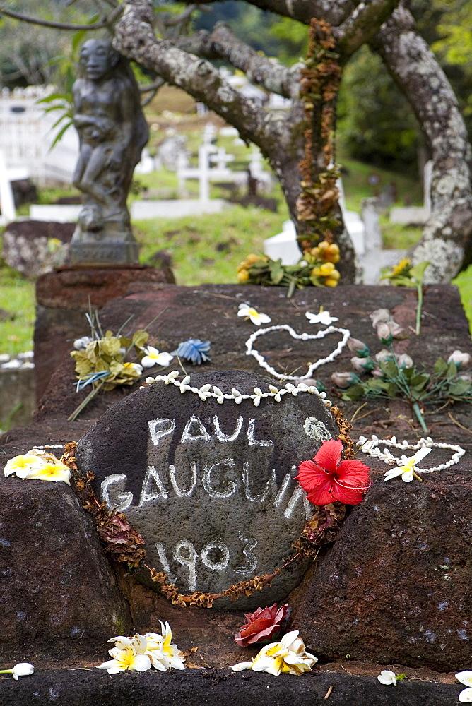 Grave of Paul Gauguin, Hiva Oa, Marquesas, Polynesia, Oceania