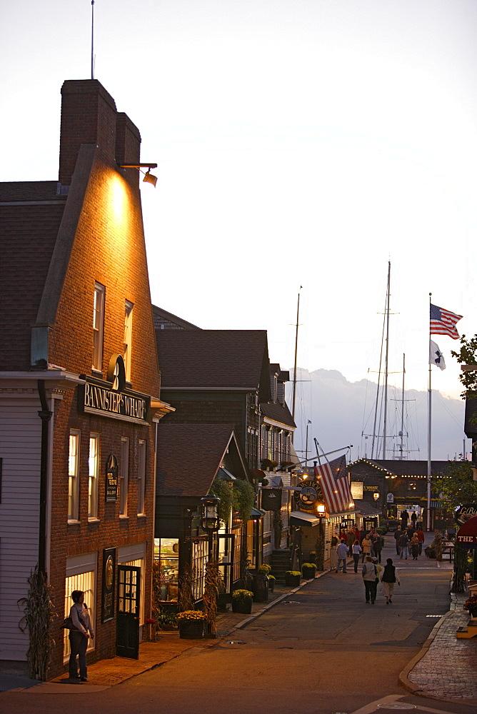 Bannister Wharf in Newport, Rhode Island, USA