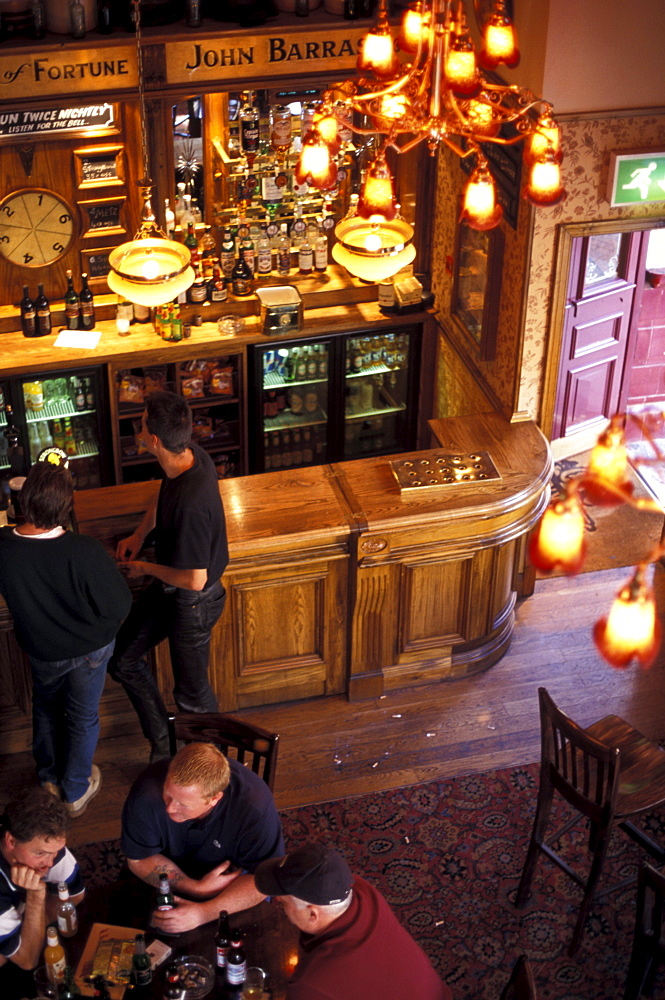 Men in pub, Deansgate, Manchester, Greater Manchester, England, United Kingdom