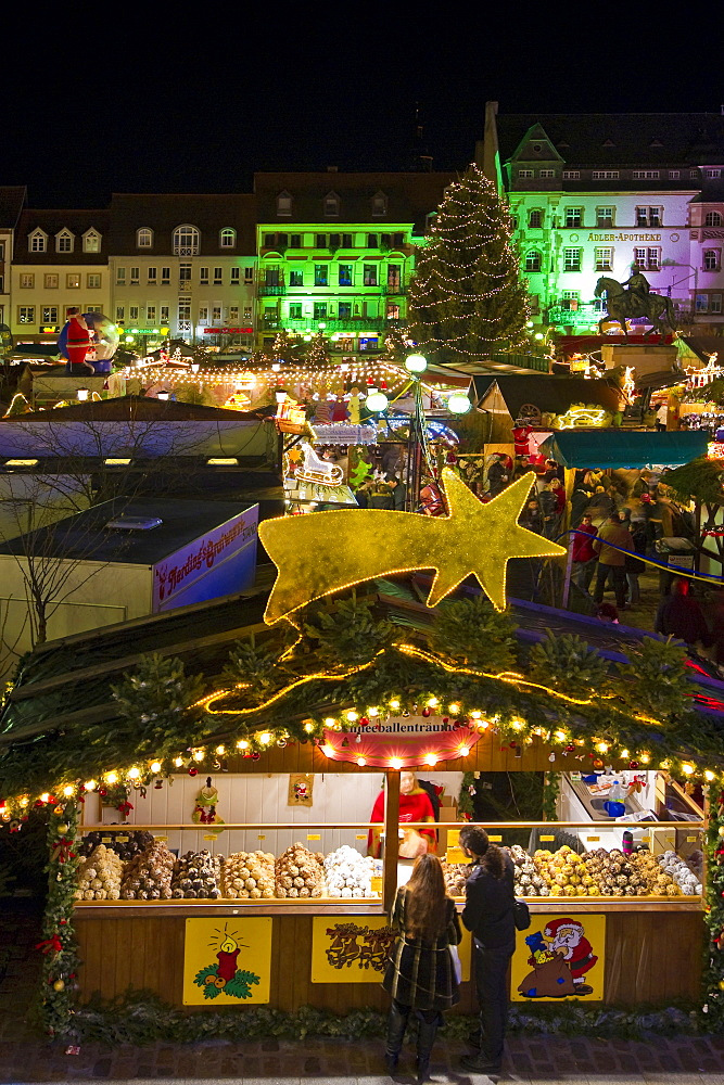 Christmas market and Christmas decorations, Landau, Rheinland-Pfalz, Germany