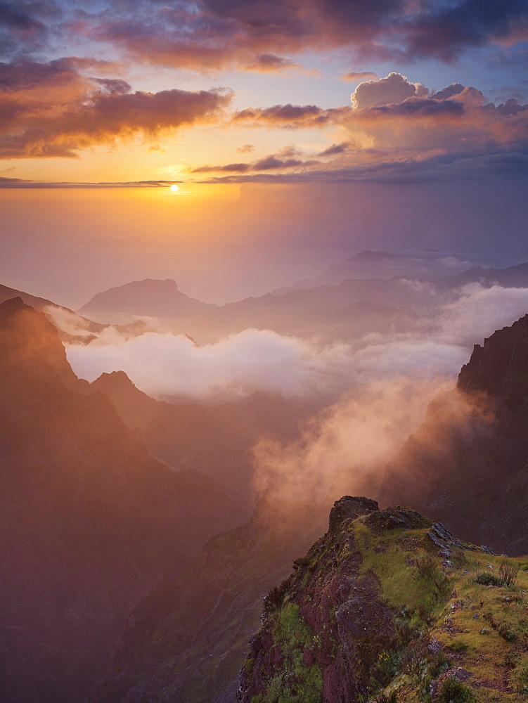 Sunrise at Miradouro Ninho da Manta, Pico do Arieiro, Madeira, Portugal