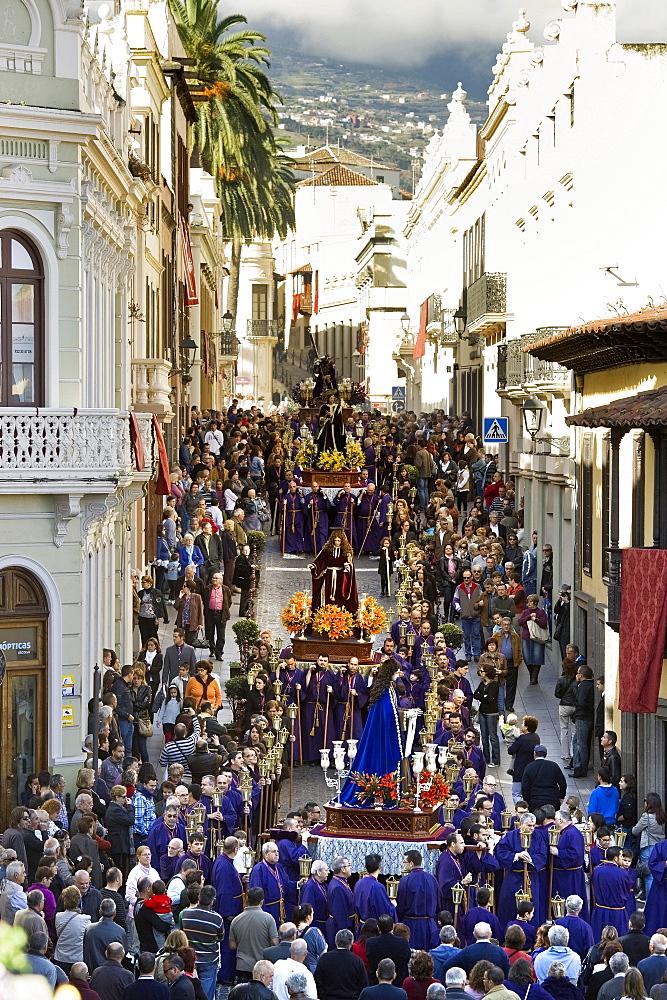 Easter procession, Semana Santa, La Orotava, Tenerife, Canary Islands, Spain, Europe