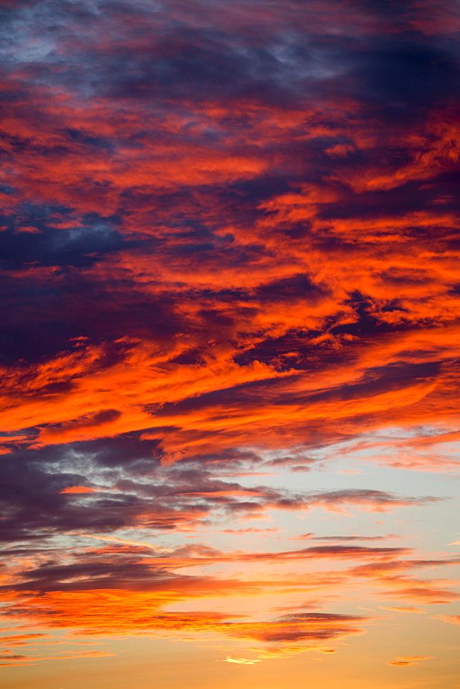 Dramatic sunset clouds, Helsinki, Southern Finland, Finland, Europe