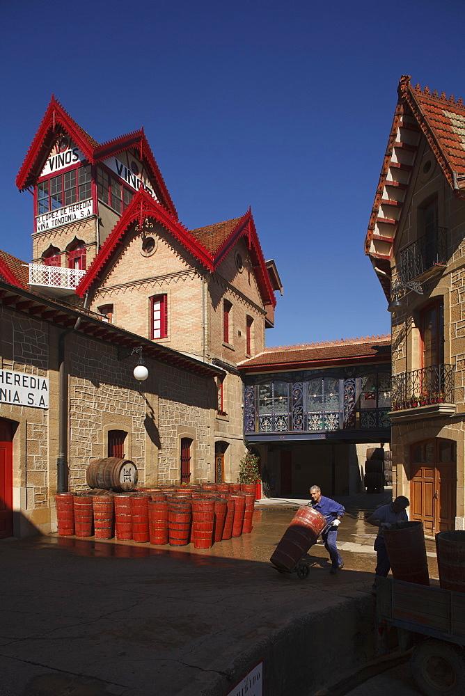 Bodega R Lopez de Heredia, Vina Tondonia, winery, Camino Vasco del interior, Way of Saint James, Camino de Santiago, pilgrims way, La Rioja, Northern Spain, Spain, Europe