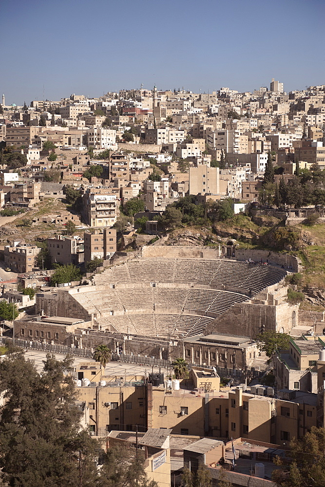 Roman Theatre in the center of capital Amman, Jordan, Middle East, Asia