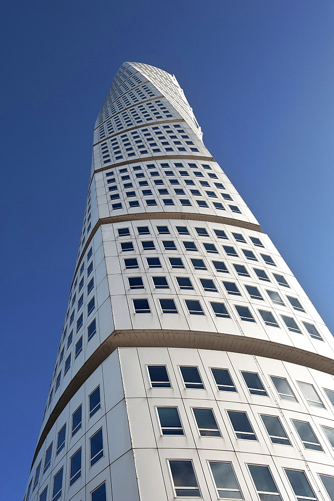 High rise building Turning Torso, architect Santiago Calatrava, Malmo, Sweden, Europe