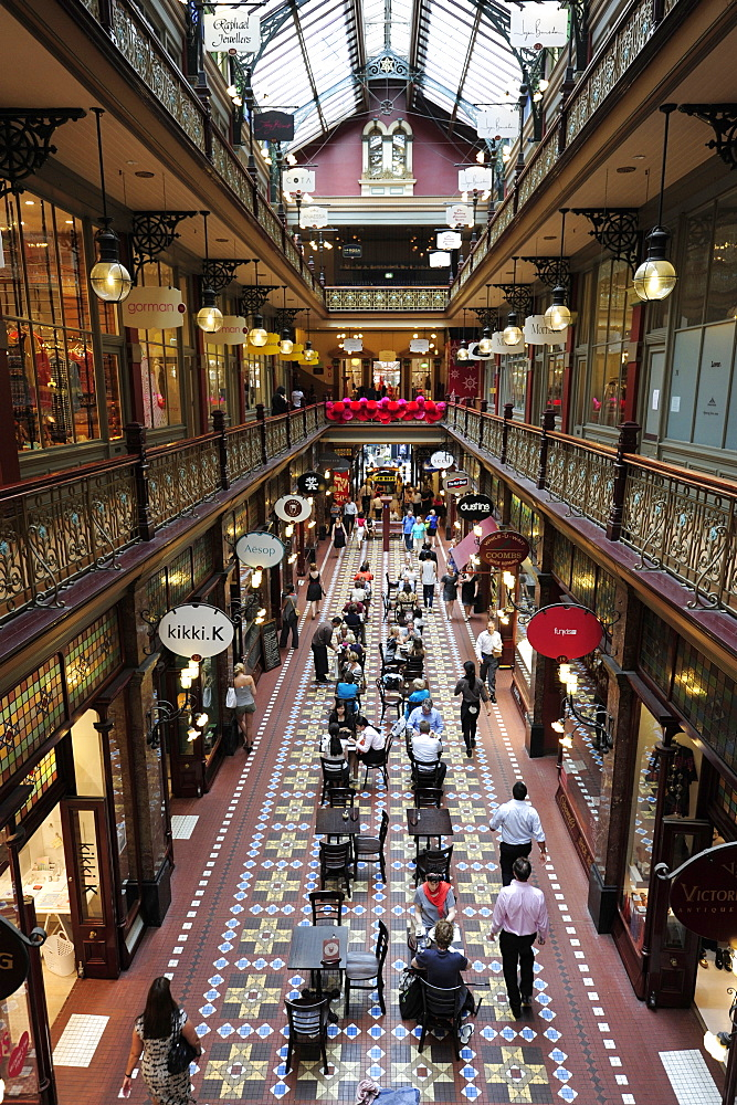 The Strand Arcade, a shopping mall in Victorian style, Central Business District, CBD, Sydney City, Sydney, New South Wales, NSW, Australia