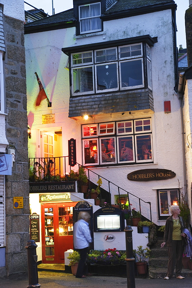 A pub in the evening, St. Ives, Cornwall, England, United Kingdom