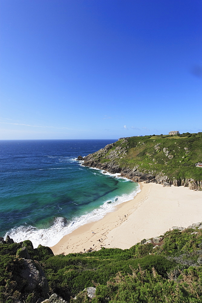 Porthcurno Beach, Penwith peninsula, Cornwall, England, United Kingdom
