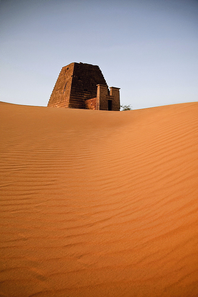 One of the Pyramids of Meroe, Sudan, Africa