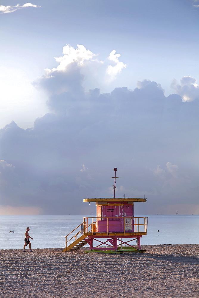 Lifeguard Hut, South Beach, Miami, Florida, USA