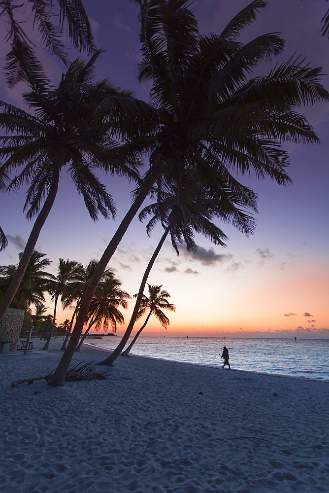 Dawn on Key West Smathers Beach, Key West, Florida Keys, Florida, USA