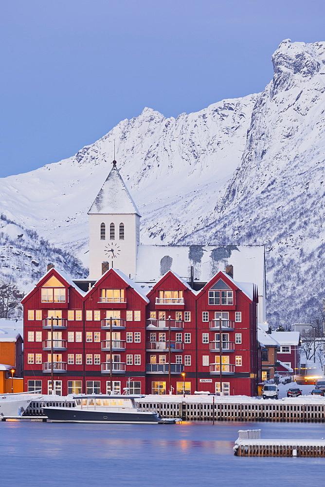 Svolvaer, Austvagoya, Lofoten, Nordland, Norway