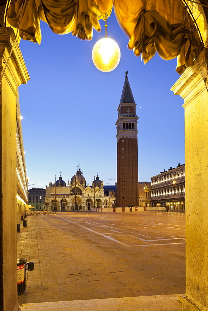 Campanile, St Marks Square, San Marco, Venice, Italy