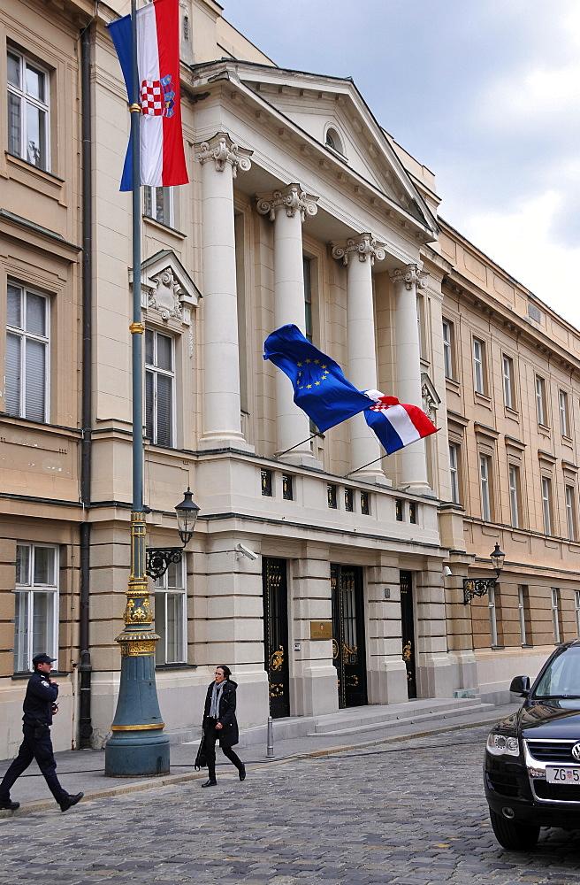 Parlament of Croatia, government quarter, upper town, Zagreb, Croatia