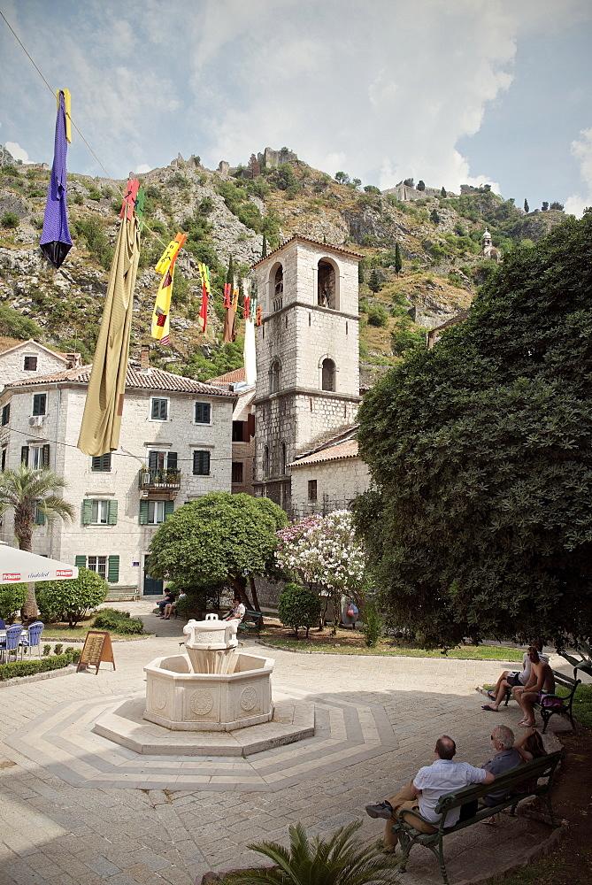 Church in the old town of Kotor, Adriatic coastline, Montenegro, Western Balkan, Europe, UNESCO