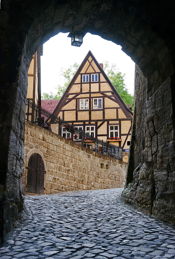 Restaurant Schlosskrug on Quedlinburg, Quedlinburg, Saxony-Anhalt, Germany