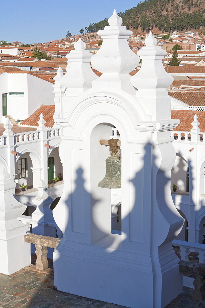 Bell tower of the San Felipe Neri Church, Sucre, Chuquisaca Department, Bolivia