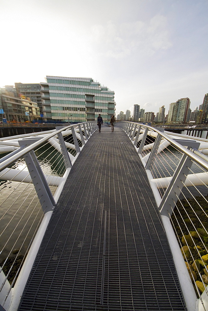 Southeast False Creek Seawall by the Vancouver Olympic Village, Vancouver, British Columbia, Canada