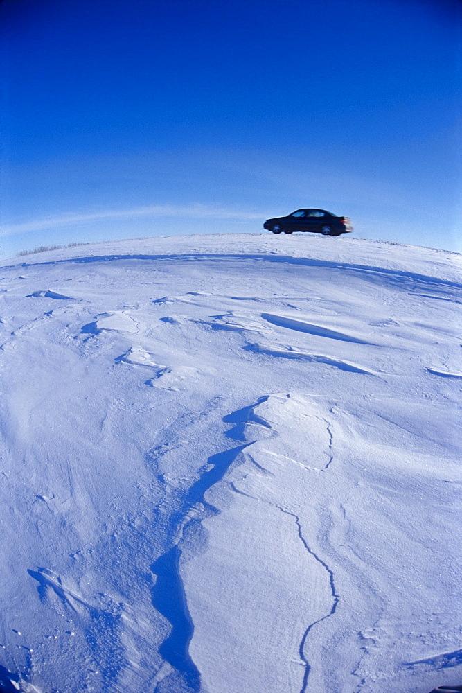 Car on Highway, Winnipeg, Manitoba