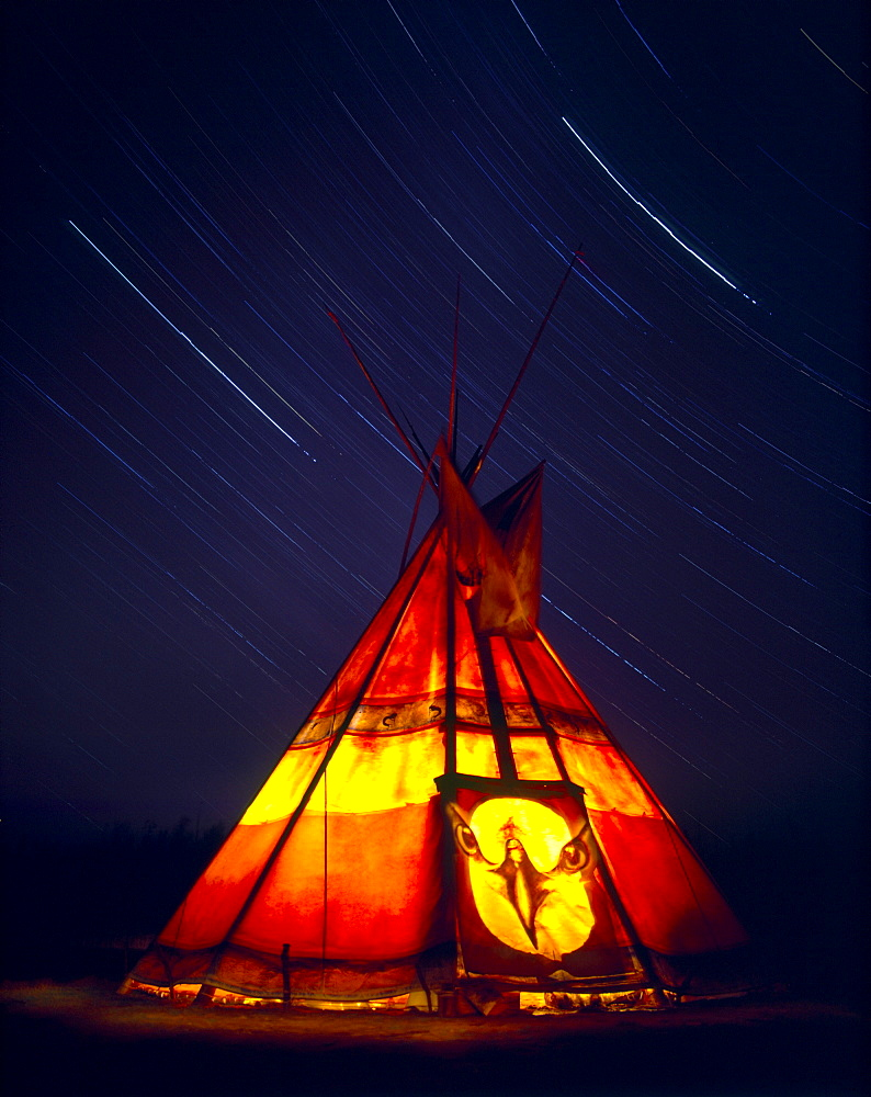 Tepee and Star Trails, Jacques-Cartier National Park, Quebec