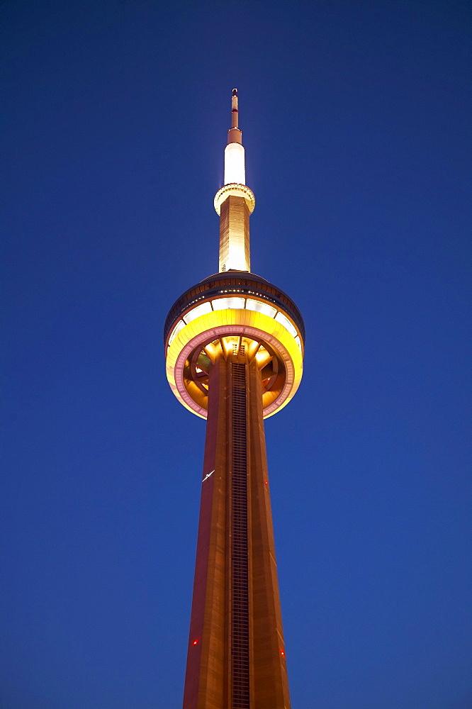 CN Tower at Night, Toronto, Ontario