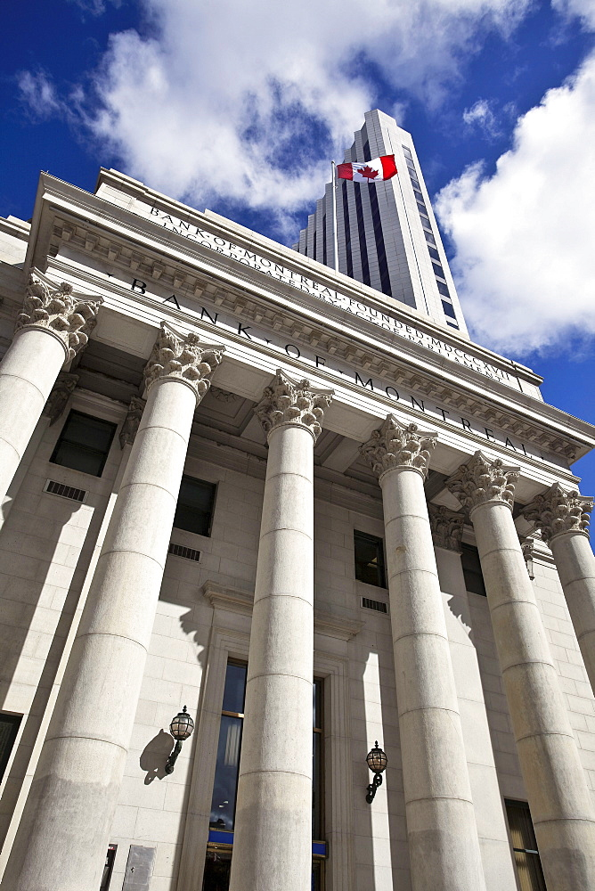 Historic Bank of Montreal building, Portage and Main, downtown Winnipeg, Manitoba