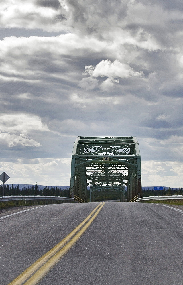 The bridge at Frank Channel, on Yellowknife Hwy between Fort Providence and Yellowknife, Northwest Territories