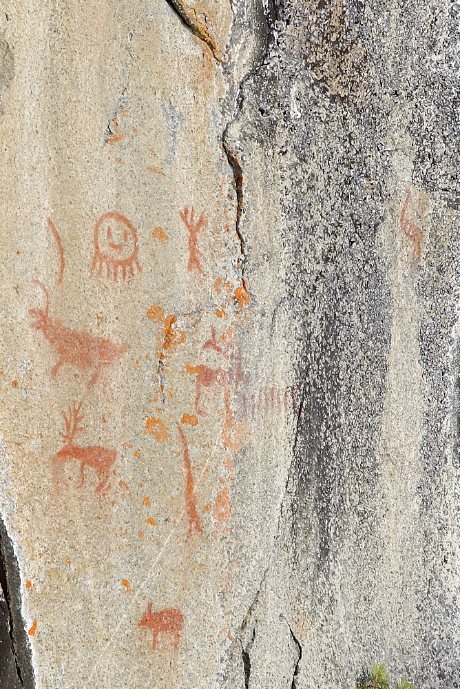 Pictographs, Missinaibi Lake, Fairy Point, north of Chapleau, Ontario
