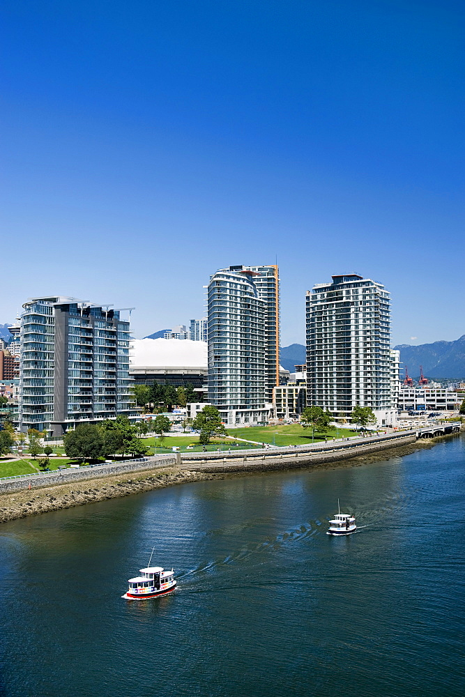 View of False Creek from Cambie Street Bridge, Vancouver, British Columbia