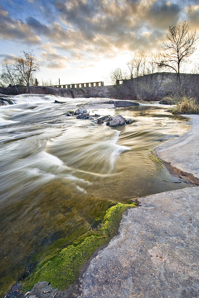 Old Pinawa Dam ruins on the Winnipeg River, near Pinawa, Manitoba