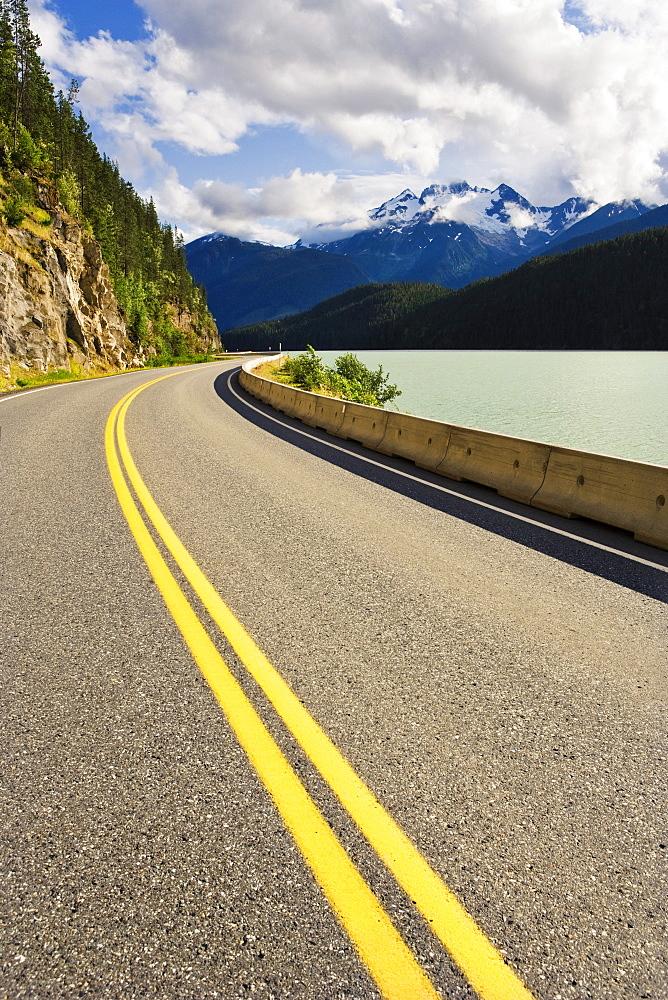 Lava Lake and Alder Peak, Nisga'a Highway, British Columbia