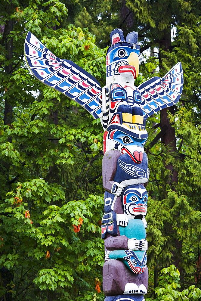 Totem pole, Stanley Park, Vancouver, British Columbia