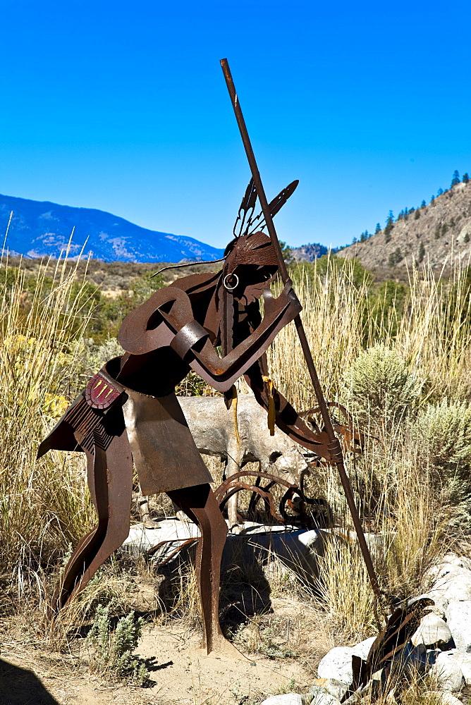 Osoyoos Indian Band sculpture at Nk'Mip Desert Cultural Centre, South Okanagan, British Columbia