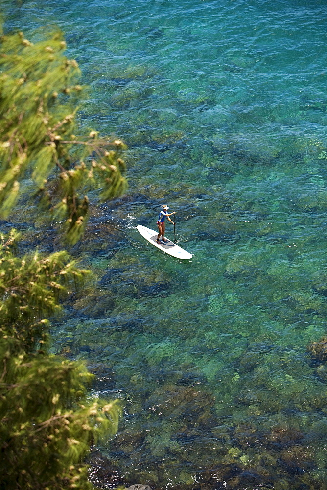 Hawaii, Maui, Haiku, Stand up paddling.
