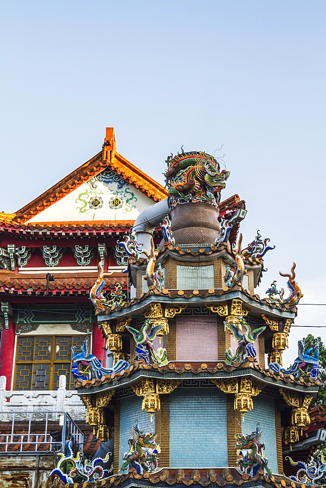 Ornate structure in Baoan Temple park, Taipei, Taiwan