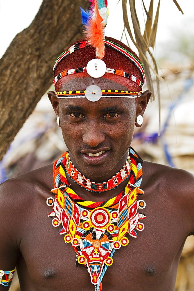 Samburu man, Samburu County, Kenya