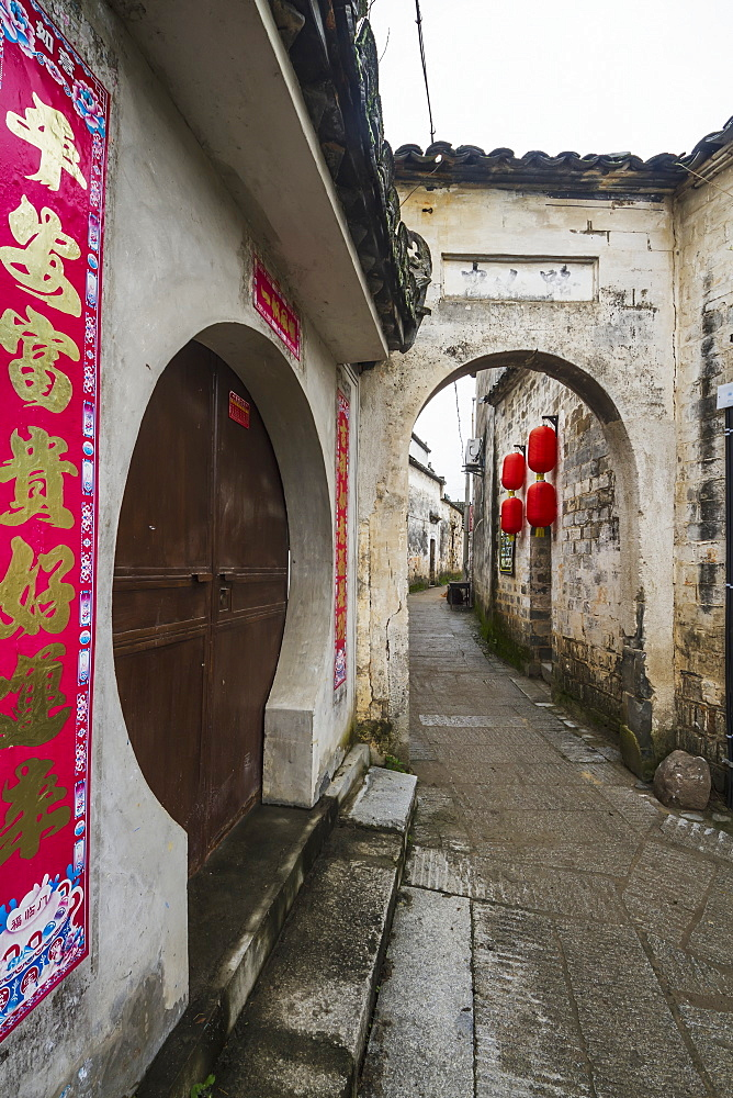 Archway over a street, Hongcun, Anhui, China